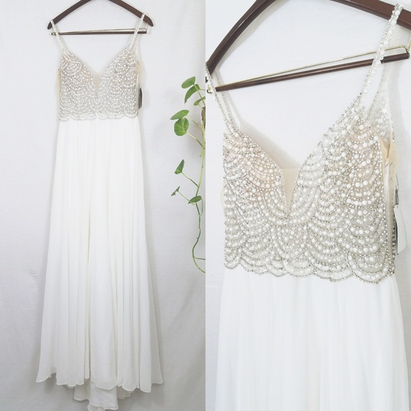 ea4bde6015 Lulu's Dresses | True Love White Beaded Rhinestone Maxi Lulus Dress ...